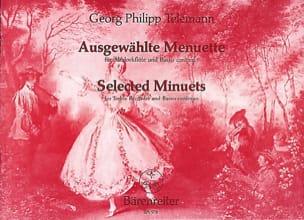 Georg Philipp Telemann - Ausgewählte Menuette – Altblockflöte - Partition - di-arezzo.fr