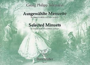 TELEMANN - Ausgewählte Menuette - Sopranblockflöte - Sheet Music - di-arezzo.co.uk