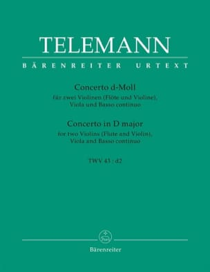 Georg Philipp Telemann - Concerto a quattro d-moll –Partitur + Stimmen - Partition - di-arezzo.fr