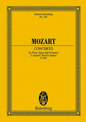 MOZART - Konzert für Flöte, harp C-Dur KV 299 - Partitur - Sheet Music - di-arezzo.co.uk
