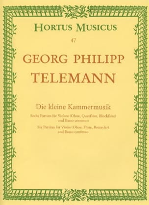 TELEMANN - Die kleine Kammermusik - Sheet Music - di-arezzo.co.uk