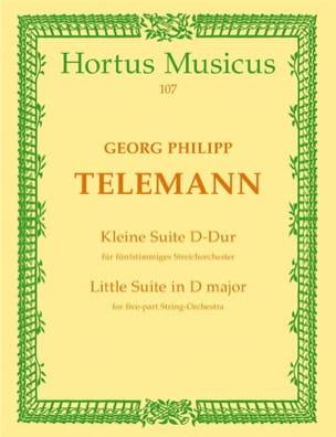 Georg Philipp Telemann - Kleine Suite D-Dur – Partitur - Partition - di-arezzo.fr