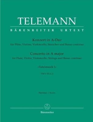 Georg Philipp Telemann - Konzert in A-Dur für Flöte, Violine - Tafelmusik 1 – Partitur - Partition - di-arezzo.fr