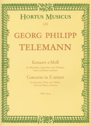 Georg Philipp Telemann - Konzert e-moll TWV 52: e1 - Partitur - Sheet Music - di-arezzo.co.uk