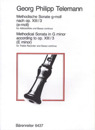TELEMANN - Methodische Sonate g-moll - Altblockflöte u. Bc - Sheet Music - di-arezzo.com