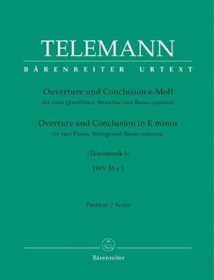 TELEMANN - Ouvertüre und Conclusion e-moll aus Tafelmusik I - Partitur - Partition - di-arezzo.fr
