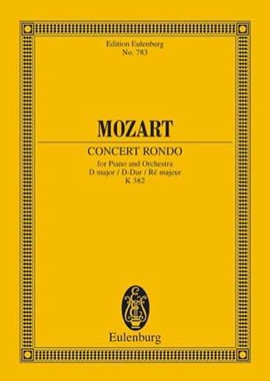 Wolfgang Amadeus Mozart - Konzert-Rondo D-Dur - Kv 382 - Partition - di-arezzo.fr