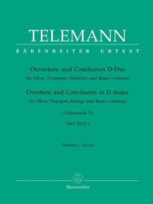 Georg Philipp Telemann - Ouvertüre und Conclusion D-dur aus Tafelmusik II. - Partition - di-arezzo.fr