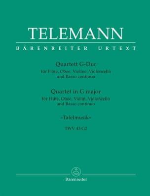 Georg Philipp Telemann - Quartett G-Dur Twv 43 : G 2 – Flöte Oboe Violine Bc - Partition - di-arezzo.fr