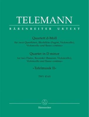 Georg Philipp Telemann - Quartett d-moll TWV 43 : d1 – 2 Querflöten Blockflöte Cello BC - Partition - di-arezzo.fr