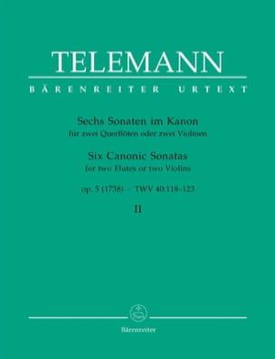 TELEMANN - 6 Sonaten im Kanon op. 5 Bd. 2 - 2 Flöten o. Violinen - Partition - di-arezzo.fr