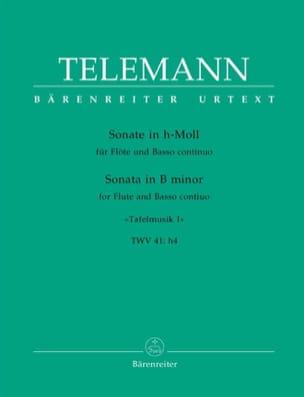Georg Philipp Telemann - Sonate h-moll – Flöte und Bc - Partition - di-arezzo.fr