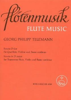 Sonata D-Dur - TELEMANN - Partition - Trios - laflutedepan.com
