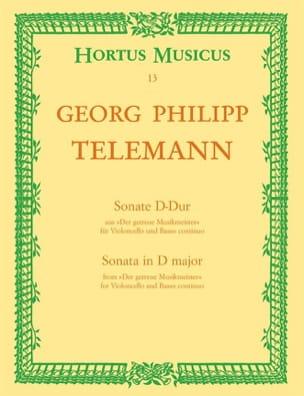 Georg Philipp Telemann - Sonate D-Dur – Cello und Bc - Partition - di-arezzo.fr