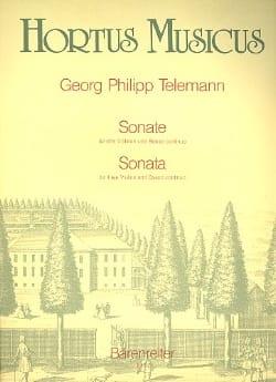 Georg Ph Telemann - Sonate für drei Violinen und Basso continuo B-dur - Partition - di-arezzo.fr
