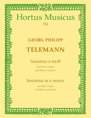 Georg Philipp Telemann - Sonatina e-moll – Oboe, Violine u. BC - Partition - di-arezzo.fr