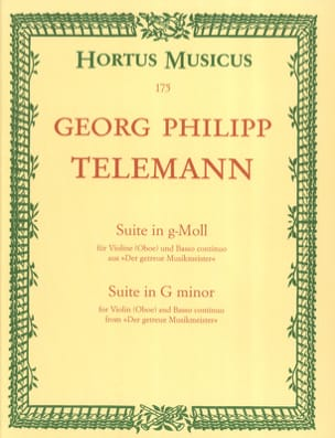 Georg Philipp Telemann - Suite in g-Moll - Partition - di-arezzo.fr