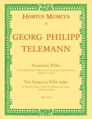 Georg Philipp Telemann - Triosonate B-Dur für Altblockflöte, konzertierendes Cembalo und Bc - Partition - di-arezzo.fr