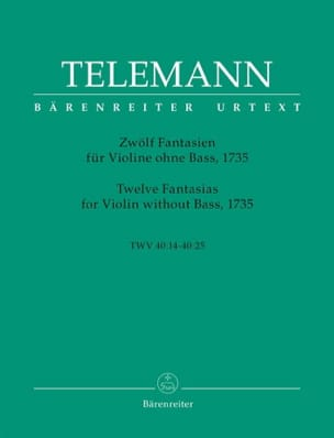 TELEMANN - 12 Fantasies for Violin Only - Sheet Music - di-arezzo.co.uk