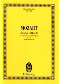 MOZART - Missa Brevis C-Dur KV 220 - Partitur - Partition - di-arezzo.fr