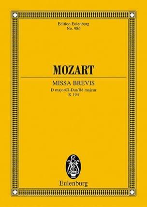 Missa Brevis D-Dur KV 194 – Partitur - laflutedepan.com