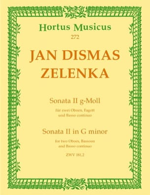 Jan Dismas Zelenka - Sonate Nr. 2 g-moll - 2 Oboen Fagott BC - Partition - di-arezzo.fr