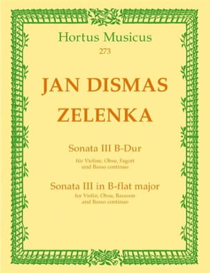 Jan Dismas Zelenka - Sonate Nr. 3 B-Dur - 2 Oboen Fagott BC - Sheet Music - di-arezzo.co.uk