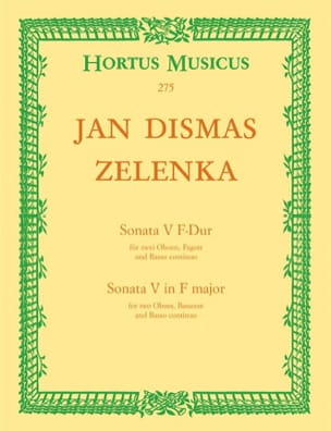 Jan Dismas Zelenka - Sonate Nr. 5 F-Dur - Oboen Fagott, BC - Sheet Music - di-arezzo.co.uk