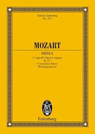 Wolfgang Amadeus Mozart - Missa C-Dur KV 317 Krönungsmesse – Partitur - Partition - di-arezzo.fr