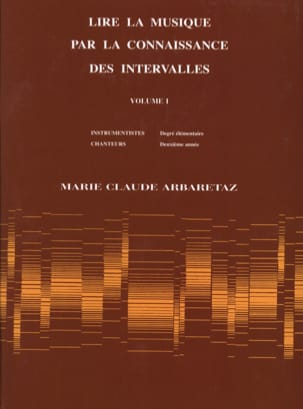 Marie Claude Arbaretaz - Reading Music by Knowing Intervals Volume 1 - Sheet Music - di-arezzo.com