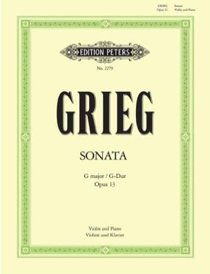 Edvard Grieg - Sonata op. 13 G major - Sheet Music - di-arezzo.co.uk