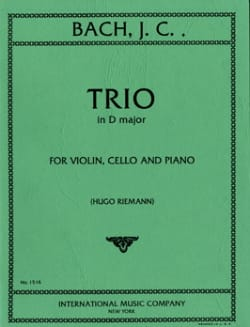 Johann Christian Bach - Trio D major – Parts - Partition - di-arezzo.fr