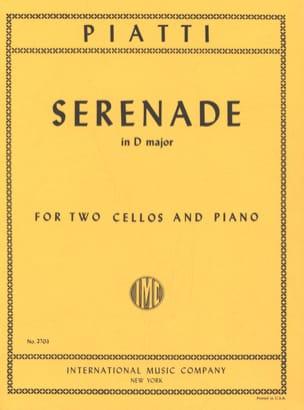 Serenade D major - 2 Cellos piano Alfredo C. Piatti laflutedepan