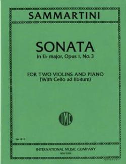 Giovanni Battista Sammartini - Sonata E-flat major op. 1 n° 3 –2 violins piano - Partition - di-arezzo.fr