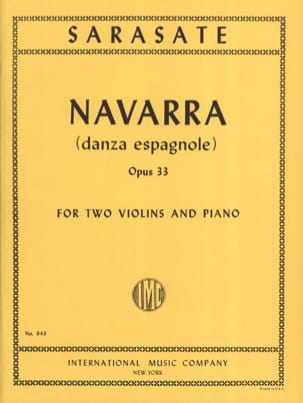 Pablo de Sarasate - Navarra op. 33 - 2 Violins piano - Sheet Music - di-arezzo.co.uk
