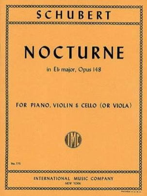 SCHUBERT - Nocturne Eb Major, op. 148 D. 899 - Partition - di-arezzo.co.uk