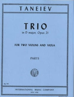 Serge Taneiev - Trio D major op. 21 - Sheet Music - di-arezzo.com
