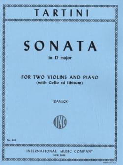 Giuseppe Tartini - Sonata D Major –2 Violins Piano - Partition - di-arezzo.fr
