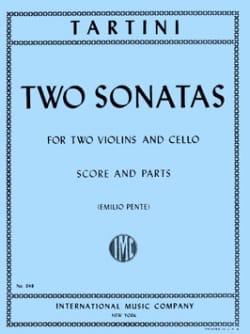 Giuseppe Tartini - 2 Sonatas –2 Violins Cello - Score + Parts - Partition - di-arezzo.fr