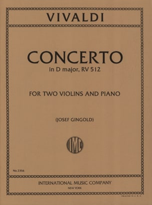 Concerto D major RV 512 – 2 Violins piano - laflutedepan.com