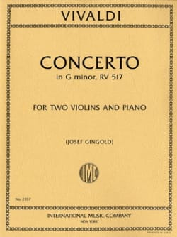 VIVALDI - Solo Concerto Opus 27 N ° 2 - Rv 517 - Partition - di-arezzo.co.uk