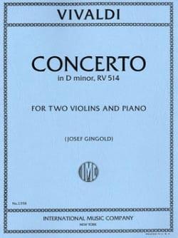 VIVALDI - Concerto in D minor RV 514 -2 Violins piano - Partition - di-arezzo.fr