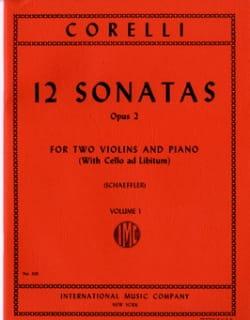 Arcangelo Corelli - 12 Sonatas op. 2 - Volume 1 : n° 1-4 –2 Violins piano - Partition - di-arezzo.fr