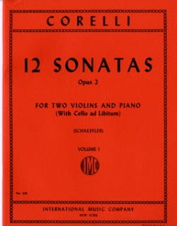 Arcangelo Corelli - 12 Sonatas op. 2 - Volume 1: n ° 1-4 - 2 Violins piano - Sheet Music - di-arezzo.com