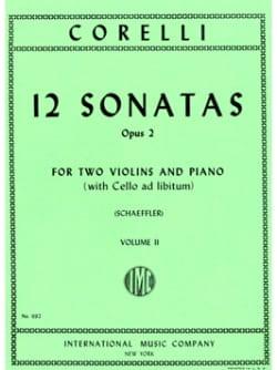 Arcangelo Corelli - 12 Sonatas op. 2 - Volume 2 : n° 5-8 –2 Violins piano - Partition - di-arezzo.fr