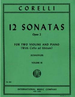 Arcangelo Corelli - 12 Sonatas op. 2 - Volume 3 : n° 9-12 –2 Violins piano - Partition - di-arezzo.fr