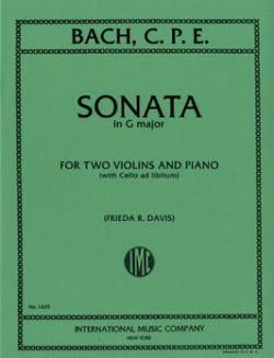 Sonata G-Dur -2 Violins piano Carl Philipp Emanuel Bach laflutedepan