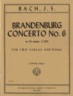 Brandenburg Concerto n° 6 BWV 1051 –2 Violas piano - laflutedepan.com