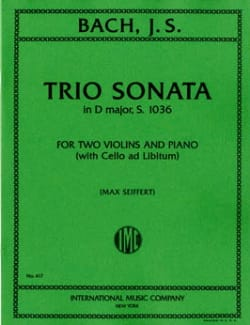 BACH - Trio Sonata in D minor BWV 1036 – Parts - Partition - di-arezzo.fr
