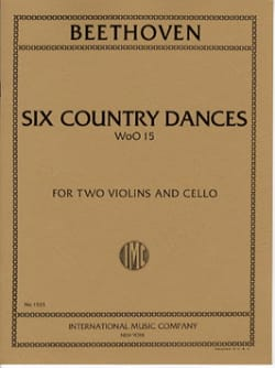 Ludwig van Beethoven - 6 Country Dances – 2 Violins cello - Score + Parts - Partition - di-arezzo.fr